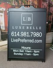 Luxe Belle Rolling Billboard A Frame
