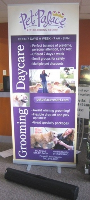 Pet Palace Retractable Banner Stand