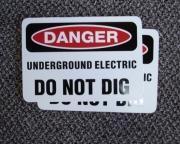 Danger Do Not Dig Magnet