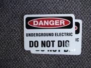 Danger magnet for posting on metal
