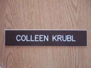 Engraved name plates