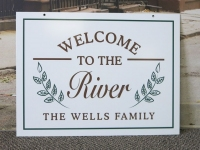 Wells Family River Sign