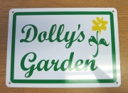 Dolly's Garden Sign