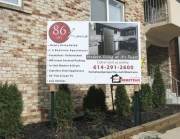 86 on Lane Property Sign