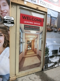 Leasing Door Removable Wrap Wilson Place
