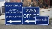 Lexington Park Apartment Signs