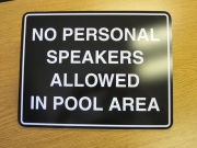 No Speakers in Pool Area