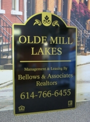 Olde Mill Lakes Sign