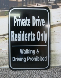 Private Drive Residents Only