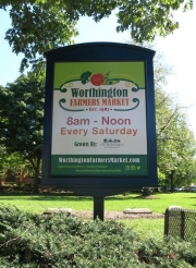 Worthington Market Village Green Sign