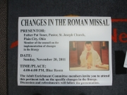 Changes in Roman Missal