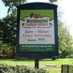 Worthington Market Village Green Sign